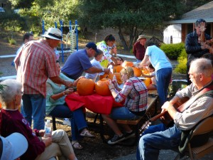Pumpkin carving at the 2011 Barn Dance & Harvest Festival!